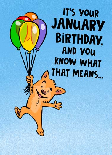 Know What January Birthday Funny January Birthday    Just 12 months until I have to buy you another birthday card.