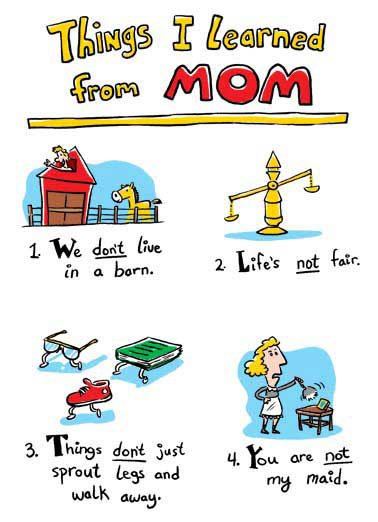 Learned From Mom Funny For Mom  Mother's Day   5. If Mom's not happy, nobody's happy.  Happy Mother's Day