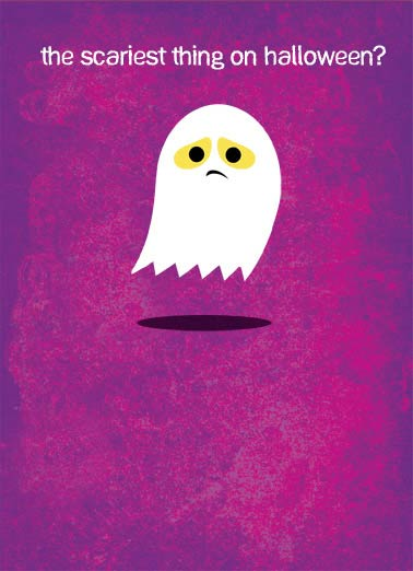Funny Halloween Card  Halloween Miss You ghost | miss you, boo hoo, ghost, halloween, cute, thinking of you, say hi,