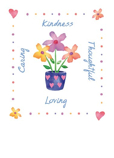 Loving Flower Pot Funny Flowers Card  Sweet Birthday Floral | pot, teapot, arrangement, florals, wishes, cute, special, person, birthday, kindness, caring, thoughtful, loving, love, daisies, hearts  A special wish for a special person. Happy Birthday