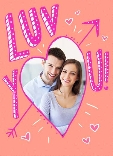 Anniversary Luv Funny Girlfriend Card   With all my Heart