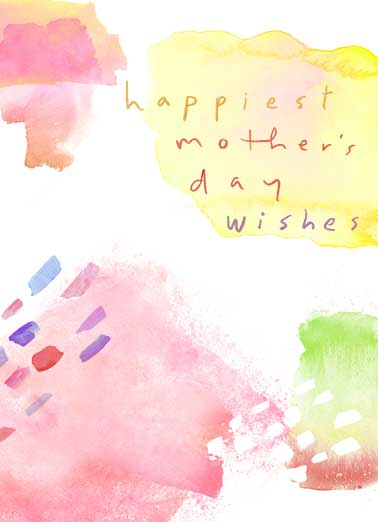 Mother's Day Watercolor Funny Mother's Day  For Wife Send this sweet watercolor Mother's Day Ecard to all the beautiful Moms in your life!  Wishing a wonderful mom a fabulous day!