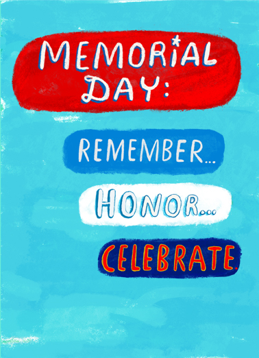 Memorial Day Ecards cards to Personalize and Send