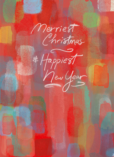 Merriest Happiest Funny Christmas Card  This Christmas, wish all your work customers and contacts the happiest of holidays, season's greetings, and Happy New Year with this new customizable Christmas card.