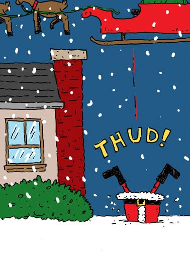 "Missed Funny Christmas Card Funny  ""It's beginning to look a lot like Kris Missed!"""
