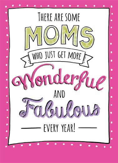 Wondeful and Fabulous Funny Lettering Card