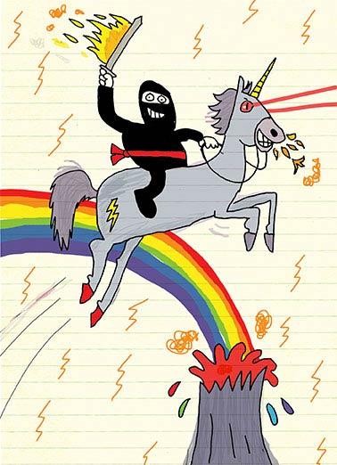 Unicorn Cards Funny