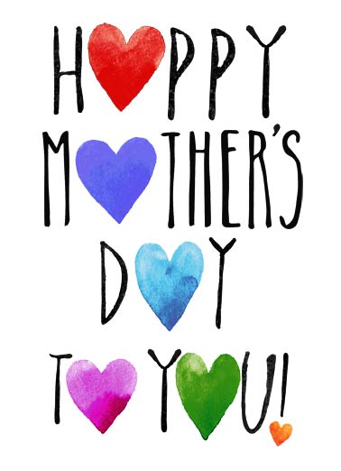 Mother's Day Hearts Funny Mother's Day Card  A Heartfelt Wish for a wonderful Mother's Day.  Just a Heartfelt wish for a wonderful Mother's Day.