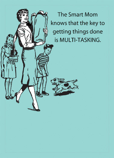 Multitasking Funny Vintage  Mother's Day multi tasking mom