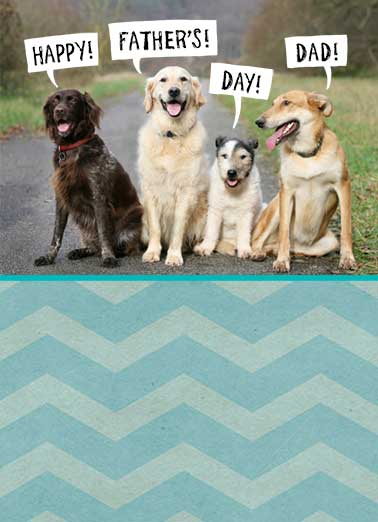 Father's Day Cards Dogs, Funny Cards - Free postage included