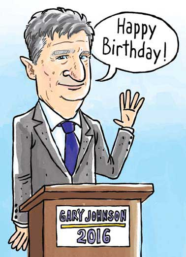 "Nice Johnson Funny Lee   Gary Johnson for President 2016, Funny Greeting Card Funny Political | Gary Johnson, Libertarian Party, Third Party, Never Trump, Never Hillary, Funny Political Card.  ""Thought you'd like a card with a nice Johnson on it!"""