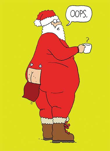 Santa Butt Funny Christmas Card Cartoons