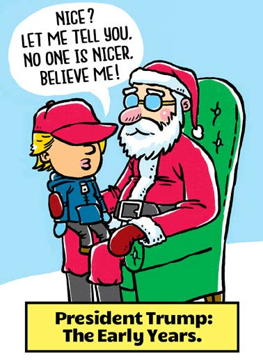 "No One Nicer Funny President Donald Trump  Christmas  ""Wishing you the ""Nicest"" Christmas ever!"""