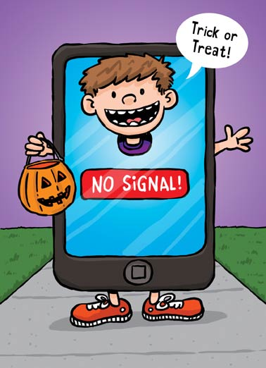 No Signal Funny Cartoons  Halloween  This was the scariest Halloween costume I could find!