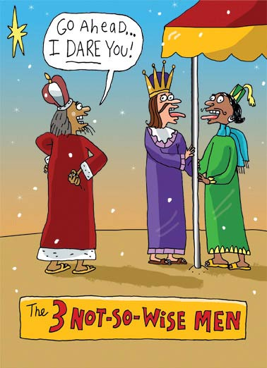 Not So Wise Men Funny Christmas Card Cartoons