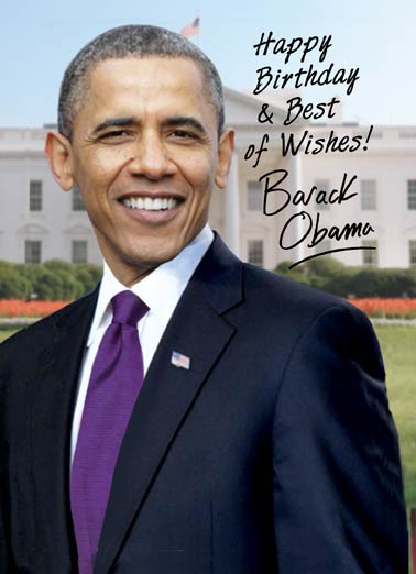 Obama Autograph Funny Birthday   Obama Autograph Card | barack, obama, liberal, anti, signature, autograph, official, white house, trump, president, political, humor, portrait, democrat, birthday Thought you'd like to put this up where everyone can see it.