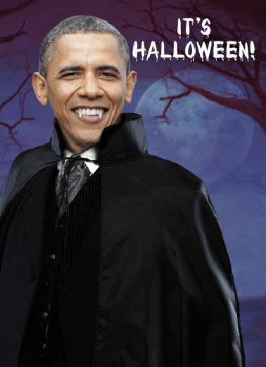 Obama Dracula Funny Halloween     Be on the lookout for Count Barackula!