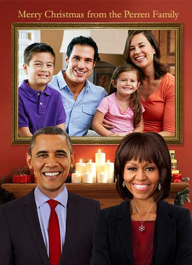 Obama Family Funny White House  Christmas