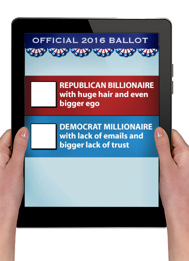 "Funny Trending Card  Funny ""Official"" 2016 Presidential Ballot Greeting Card 