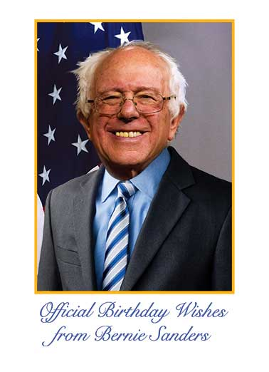 Official Bernie Birthday Funny Bernie Sanders Card