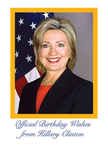 Official Hillary Birthday Funny Birthday  Funny Political