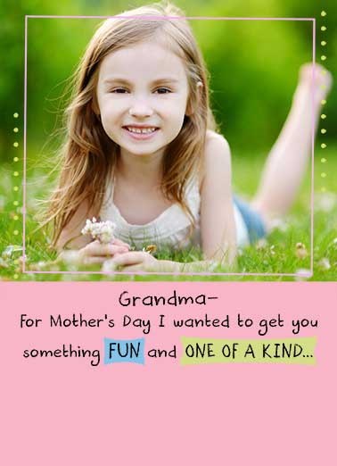One of a Kind Funny Mother's Day  For Grandma
