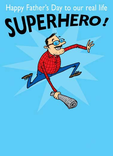 "Our Superhero Funny Superhero Card Father's Day  The Amazing ""Kill A Spider Man!"""
