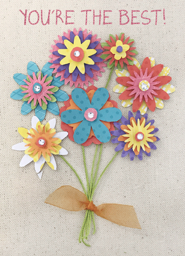Paper Flower Bouquet Funny Mother's Day Card  Happy Mother's Day | Send Mom a greeting card just in time for Mother's Day!    Happy Mother's Day