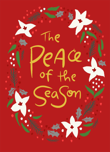 Peace of the Season Funny Christmas Card