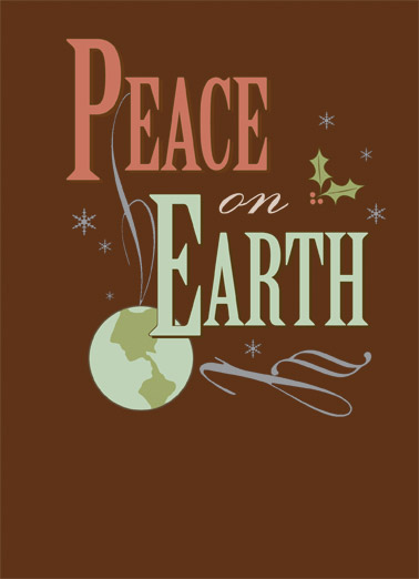 Peace on Earth Funny Christmas Card Traditional