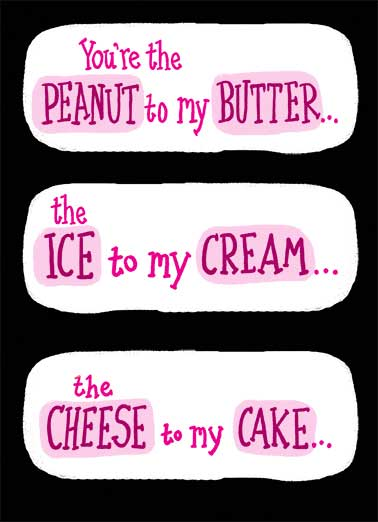 Peanut Butter Funny Valentine's Day Card Dirty Sexy Naughty   The HONEY to my BUNS.  Happy Valentine's Day