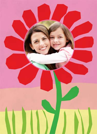 Picked This Out Funny Mother's Day  Add Your Photo flower photo mother daughter mom pick picked color mom mother's day illustration sky grass   mom- i picked this because i love you!