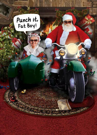 Punch It Funny Christmas   Harley Santa Clause