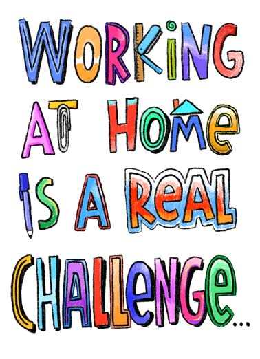 Real Challenge Funny Lettering  Birthday Working from home is a real challenge. | work working home real challenge happy birthday office stapler paperclip computer drink drinking white red wine drunk present cake quarantine social distancing distance covid-19 virus pandemic sick fever   Do you open a bottle or red wine or white wine first?
