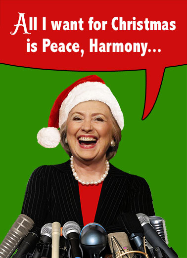 Hillary Clinton Christmas.Christmas Cards Hillary Clinton Funny Cards Free Postage