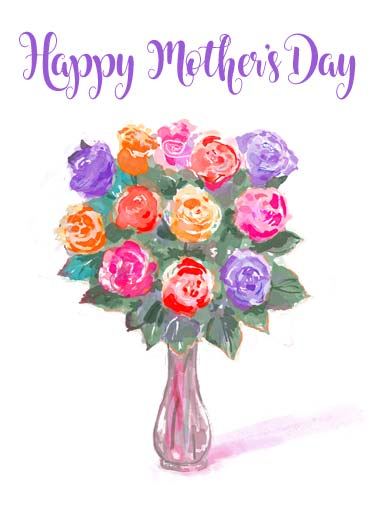 "Rose Bouquet MD Funny Mother's Day   Send a wish with this sweet ""Rose Bouquet"" Mother's Day card or Ecard to put a smile on someone's face today. 