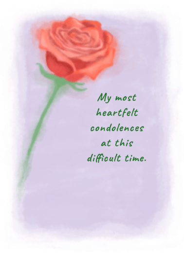 Rose Watercolor Funny Sympathy Card  Let them know how much you care with a personalized sympathy greeting card. | sorry for your loss thoughts and prayers flowers   You're in my thoughts and prayers