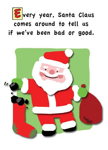 santa comes - Santa Cards