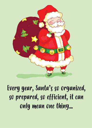 Santa is Woman  Funny Christmas Card Cartoons Santa is a woman after all | woman, funny, organized, costume, cartoon, cute, female, holiday, truth  Merry Christmas