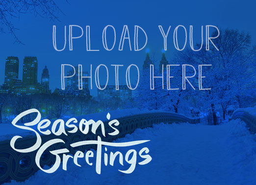 Seasons Greetings Upload Funny Christmas Card Season's Greetings This Christmas, wish all your work customers and contacts the happiest of holidays, season's greetings, and Happy New Year with this new customizable Christmas card.