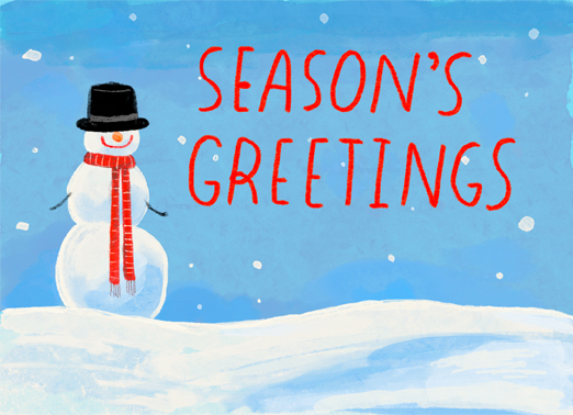 Seasons Snowman Funny Christmas Card Season's Greetings