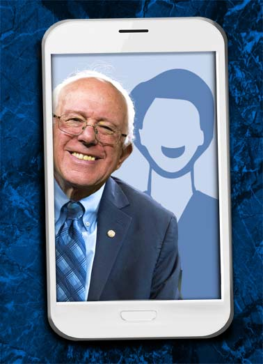 Funny Funny Political Card Add Your Photo dad father father's day selfie Bernie Sanders white house oval office senate congress president add upload photo,  Hope your Father's Day is picture-perfect!