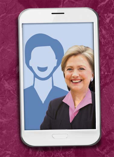 Hillary Selfie Funny Hillary Clinton Card  Hillary selfie republican democrat photo upload picture perfect mother mother's day mom  Hope your Mother's Day is Picture-Perfect!