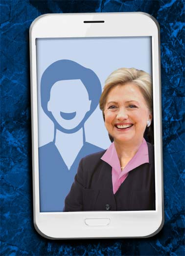 Selfie Hillary FD Funny Father's Day Card Add Your Photo dad father father's day Hillary Bill Clinton oval office white house photo add upload senate congress republican democrat  Hope your Father's Day is picture-perfect!