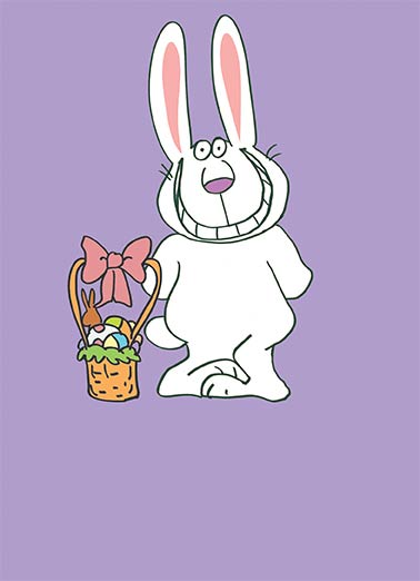Funny gifts cards easter cardfool free postage included smiling bunny funny gifts card easter smiling bunny negle Images