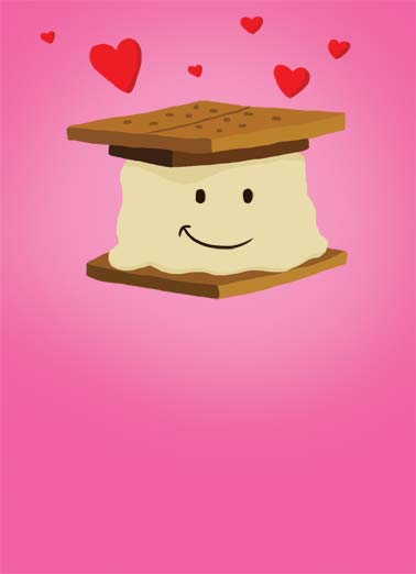 Smore (LV) Funny Kevin Card Love An illustration of a Smore that loves you. | smore love heart chocolate marshmello gram cracker each day Love you SMORE each day!