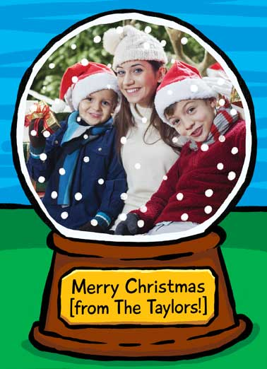 Snow Globe Funny Christmas Card Add Your Photo
