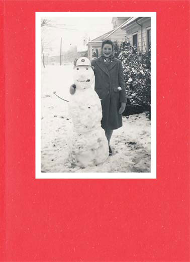 Funny Naughty but Nice Card  Woman stands with a snowman | vintage retro photo snowman snowmen large balls slush brains silly smile christmas snow winter merry christmas, Large Balls, Silly Smile, Slush for Brains... No wonder they're called snowmen!