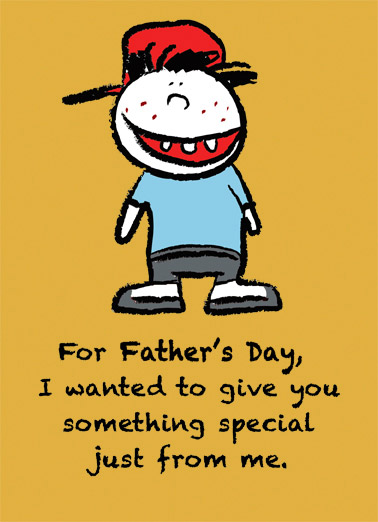 Something Special Dad Funny Father's Day Card Fart  But it's a lot harder to fart in an envelope than I thought.