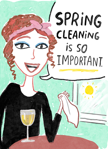 "Spring Cleaning Funny Birthday Card April Birthday Send a wish with this sweet ""Spring Cleaning"" Birthday card or Ecard to put a smile on someone's face today."